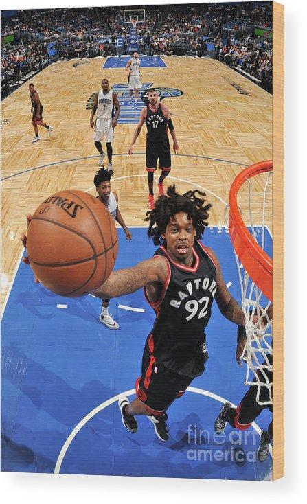 Nba Pro Basketball Wood Print featuring the photograph Lucas Nogueira by Fernando Medina