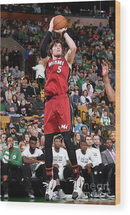Nba Pro Basketball Wood Print featuring the photograph Luke Babbitt by Brian Babineau