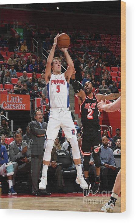 Nba Pro Basketball Wood Print featuring the photograph Luke Kennard by Chris Schwegler