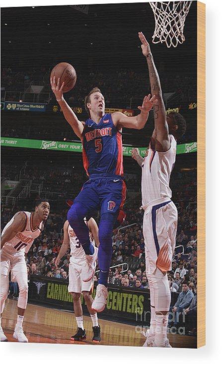 Nba Pro Basketball Wood Print featuring the photograph Luke Kennard by Michael Gonzales