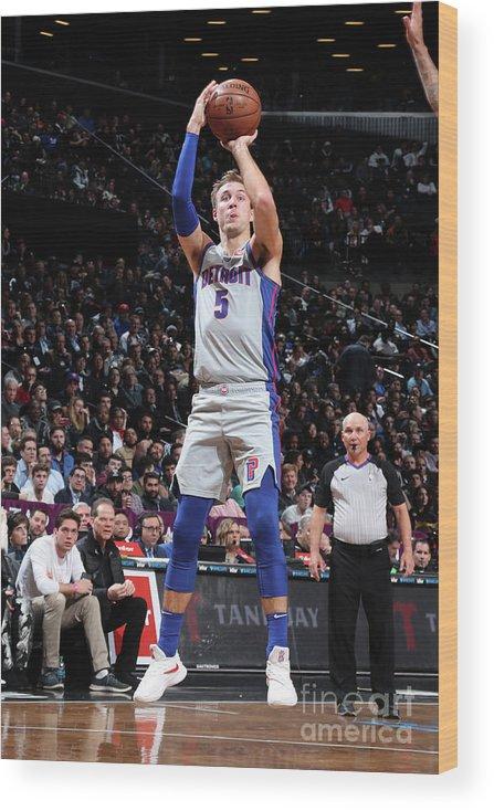 Nba Pro Basketball Wood Print featuring the photograph Luke Kennard by Nathaniel S. Butler
