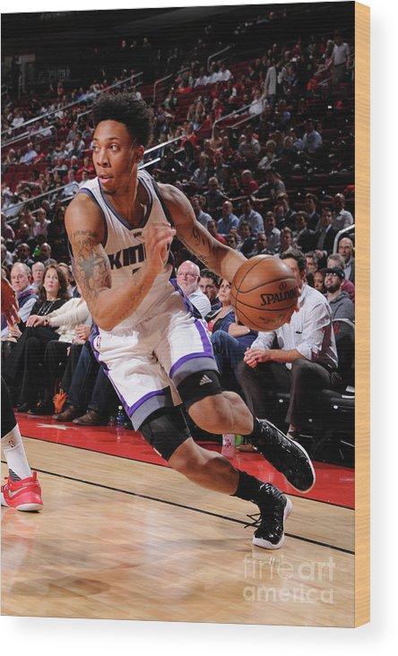 Nba Pro Basketball Wood Print featuring the photograph Malachi Richardson by Bill Baptist