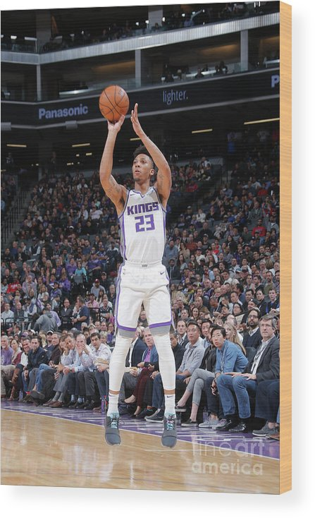 Nba Pro Basketball Wood Print featuring the photograph Malachi Richardson by Rocky Widner