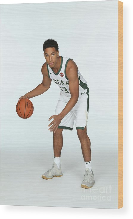 Media Day Wood Print featuring the photograph Malcolm Brogdon by Gary Dineen