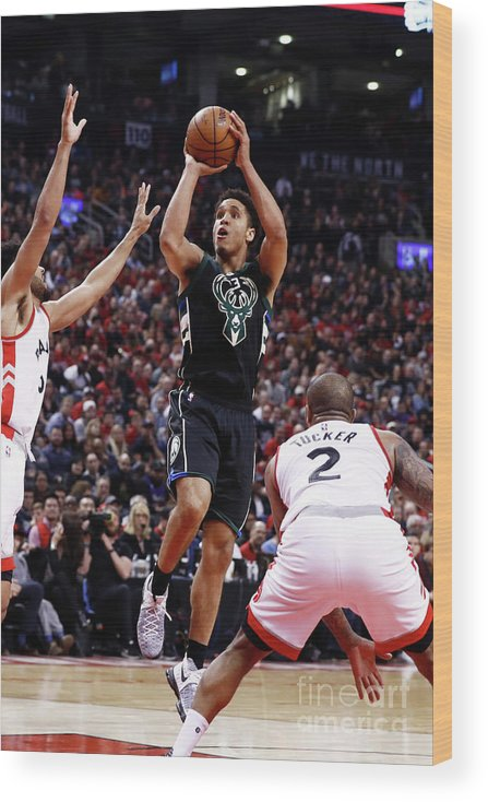 Playoffs Wood Print featuring the photograph Malcolm Brogdon by Mark Blinch