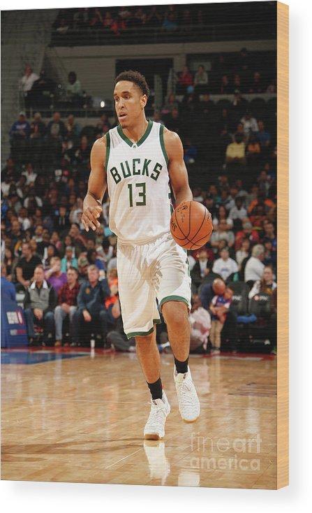 Nba Pro Basketball Wood Print featuring the photograph Malcolm Brogdon by Nba Photos