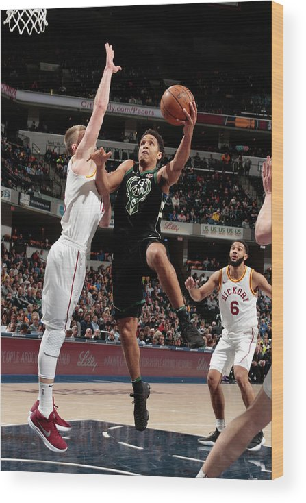 Nba Pro Basketball Wood Print featuring the photograph Malcolm Brogdon by Ron Hoskins