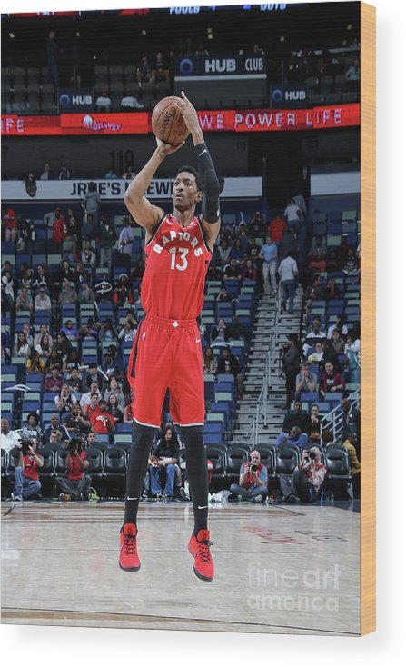 Smoothie King Center Wood Print featuring the photograph Malcolm Miller by Layne Murdoch Jr.
