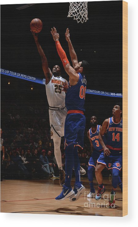 Nba Pro Basketball Wood Print featuring the photograph Malik Beasley by Bart Young