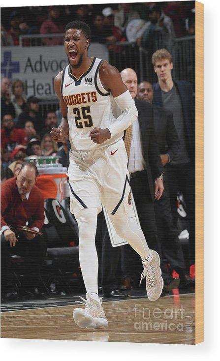 Nba Pro Basketball Wood Print featuring the photograph Malik Beasley by Gary Dineen