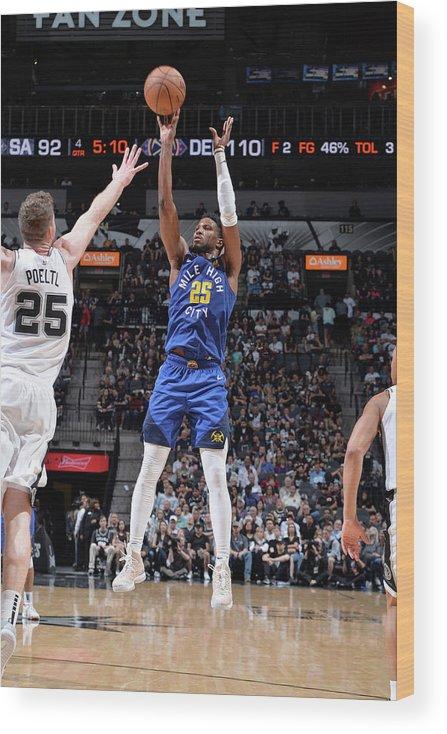 Playoffs Wood Print featuring the photograph Malik Beasley by Mark Sobhani