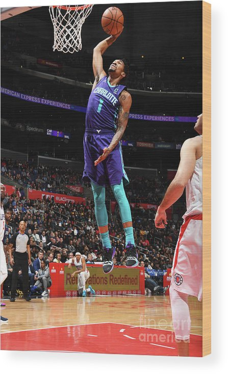 Nba Pro Basketball Wood Print featuring the photograph Malik Monk by Andrew D. Bernstein