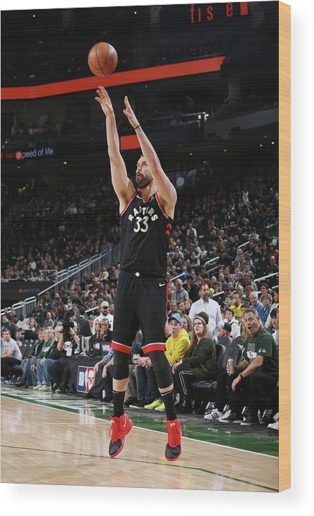 Game Two Wood Print featuring the photograph Marc Gasol by Gary Dineen