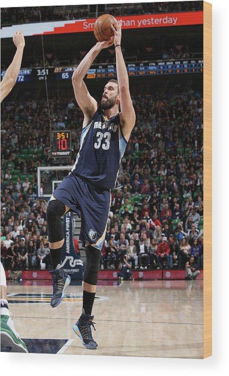 Nba Pro Basketball Wood Print featuring the photograph Marc Gasol by Melissa Majchrzak
