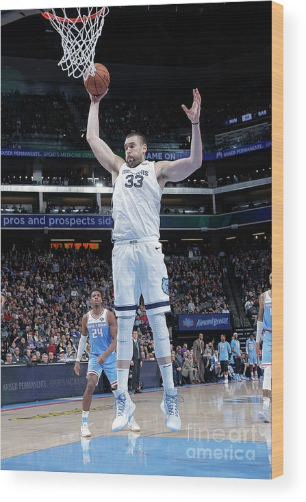 Nba Pro Basketball Wood Print featuring the photograph Marc Gasol by Rocky Widner