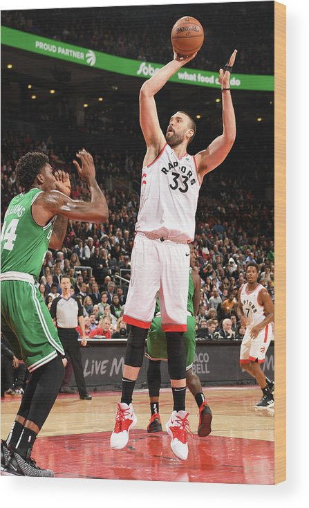Nba Pro Basketball Wood Print featuring the photograph Marc Gasol by Ron Turenne
