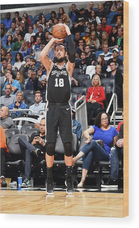 Nba Pro Basketball Wood Print featuring the photograph Marco Belinelli by Gary Bassing