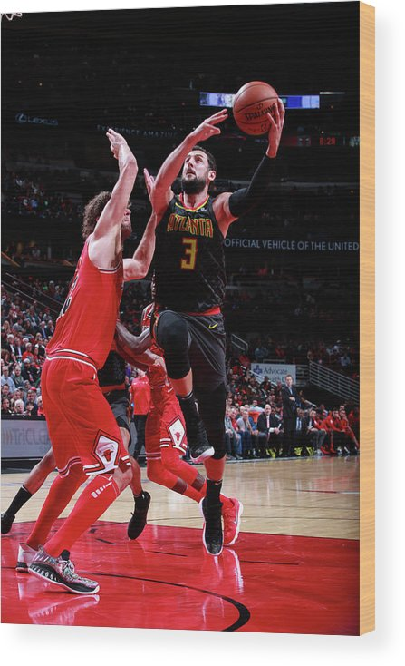 Nba Pro Basketball Wood Print featuring the photograph Marco Belinelli by Jeff Haynes