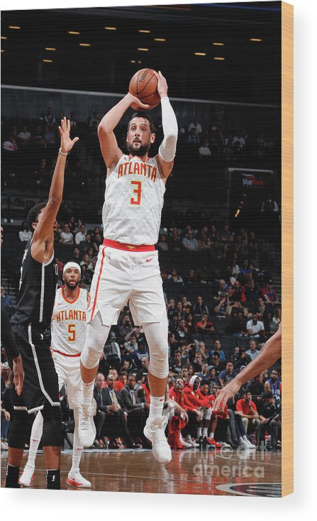 Nba Pro Basketball Wood Print featuring the photograph Marco Belinelli by Nathaniel S. Butler
