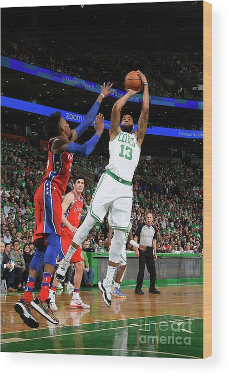 Playoffs Wood Print featuring the photograph Marcus Morris by Brian Babineau