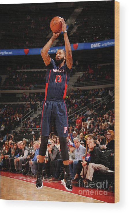 Nba Pro Basketball Wood Print featuring the photograph Marcus Morris by Brian Sevald
