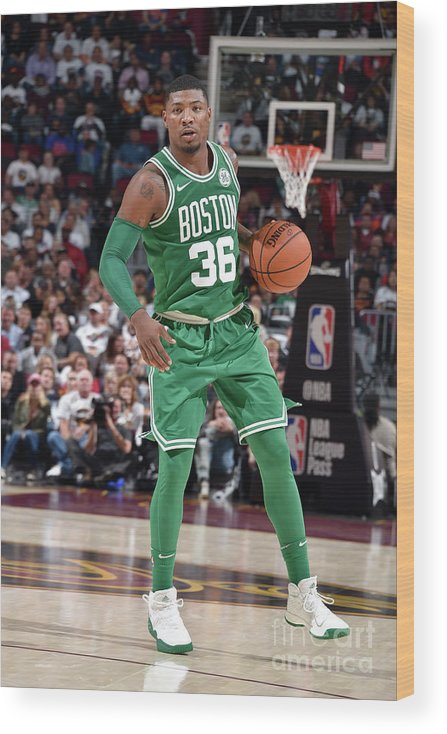 Nba Pro Basketball Wood Print featuring the photograph Marcus Smart by David Liam Kyle