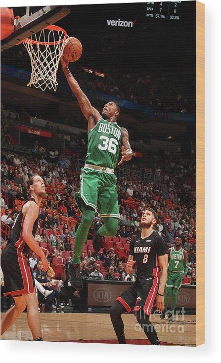 Nba Pro Basketball Wood Print featuring the photograph Marcus Smart by Issac Baldizon