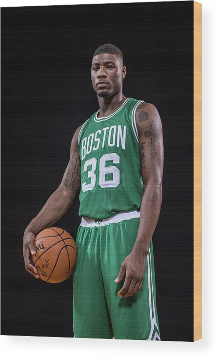 Nba Pro Basketball Wood Print featuring the photograph Marcus Smart by Nick Laham