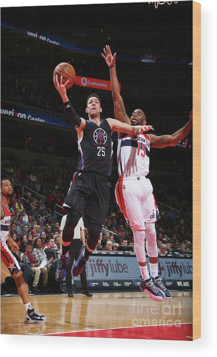 Nba Pro Basketball Wood Print featuring the photograph Marcus Thornton and Austin Rivers by Ned Dishman