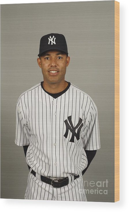 Media Day Wood Print featuring the photograph Mariano Rivera by Robert Rogers