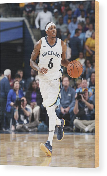 Nba Pro Basketball Wood Print featuring the photograph Mario Chalmers by Joe Murphy
