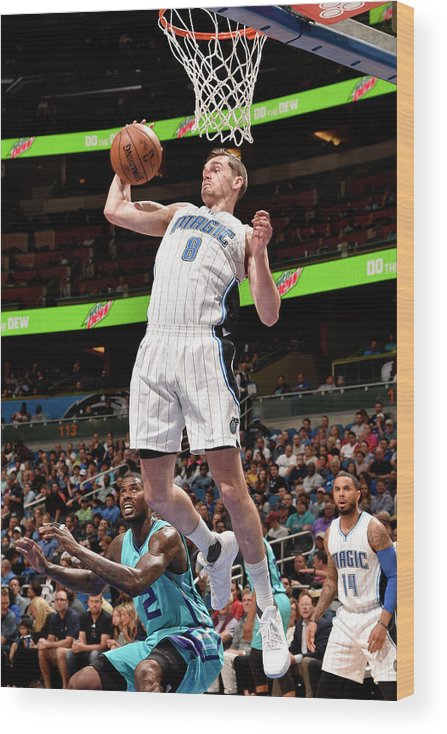 Nba Pro Basketball Wood Print featuring the photograph Mario Hezonja by Gary Bassing