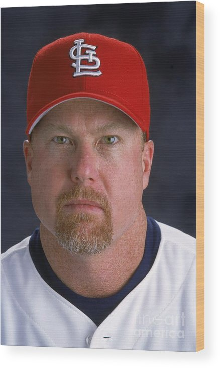 St. Louis Cardinals Wood Print featuring the photograph Mark Rogers by Andy Lyons
