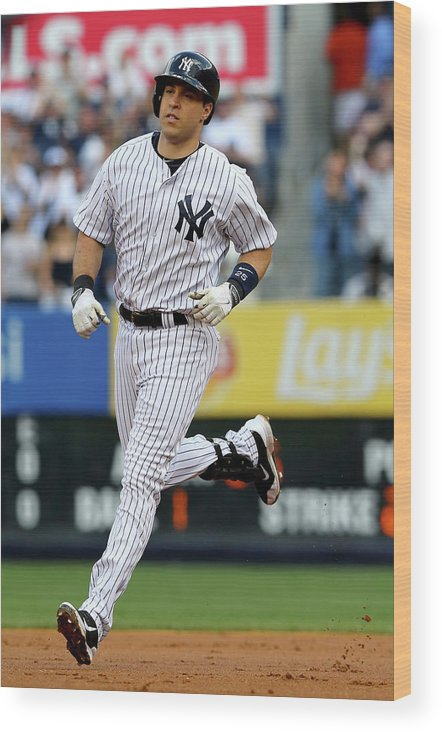 American League Baseball Wood Print featuring the photograph Mark Teixeira by Elsa