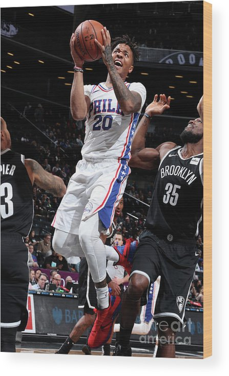 Nba Pro Basketball Wood Print featuring the photograph Markelle Fultz by Nathaniel S. Butler