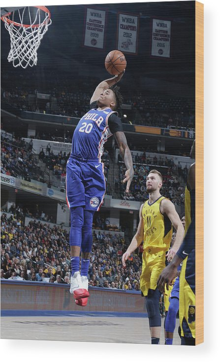 Nba Pro Basketball Wood Print featuring the photograph Markelle Fultz by Ron Hoskins