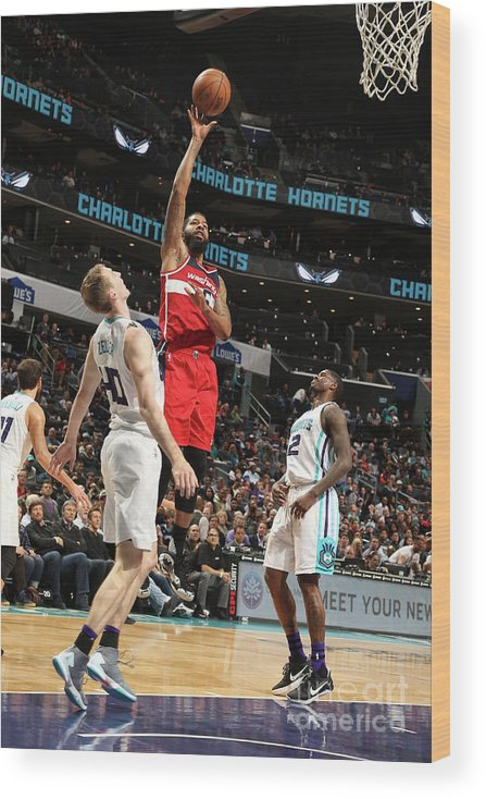 Nba Pro Basketball Wood Print featuring the photograph Markieff Morris by Kent Smith