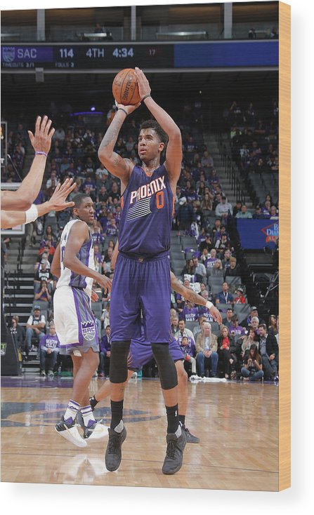 Nba Pro Basketball Wood Print featuring the photograph Marquese Chriss by Rocky Widner