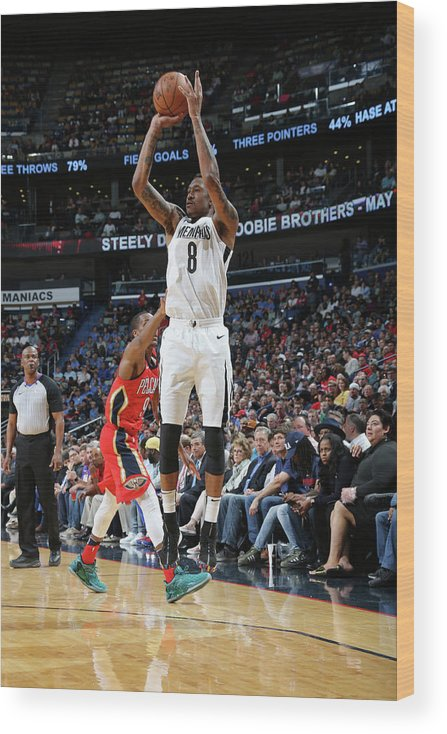 Smoothie King Center Wood Print featuring the photograph Marshon Brooks by Layne Murdoch Jr.