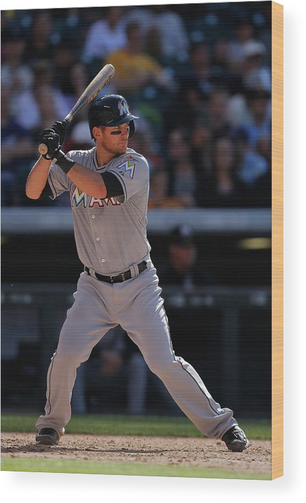 People Wood Print featuring the photograph Martin Prado by Doug Pensinger