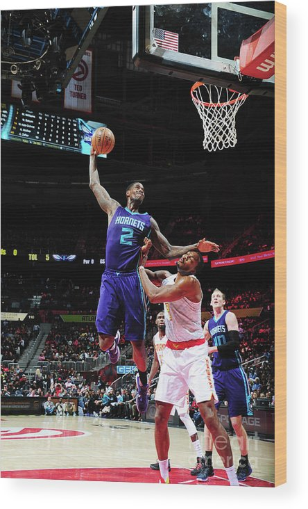 Atlanta Wood Print featuring the photograph Marvin Williams and Dwight Howard by Scott Cunningham