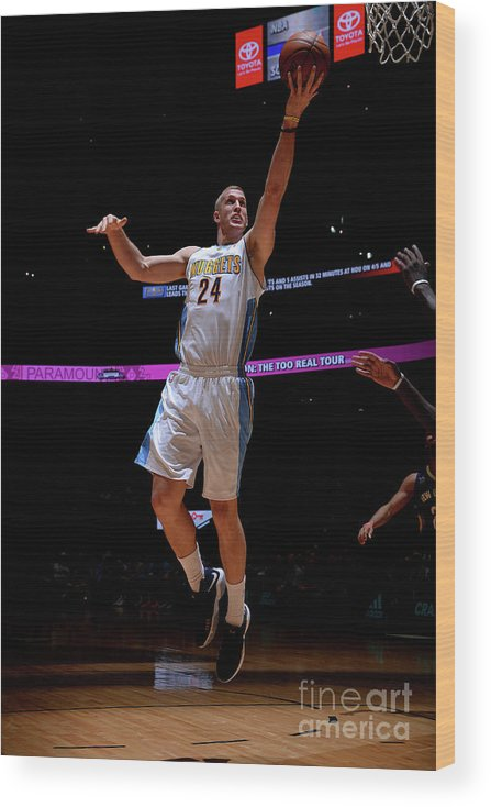Nba Pro Basketball Wood Print featuring the photograph Mason Plumlee by Bart Young