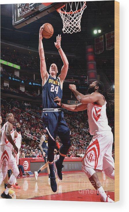 Nba Pro Basketball Wood Print featuring the photograph Mason Plumlee by Bill Baptist