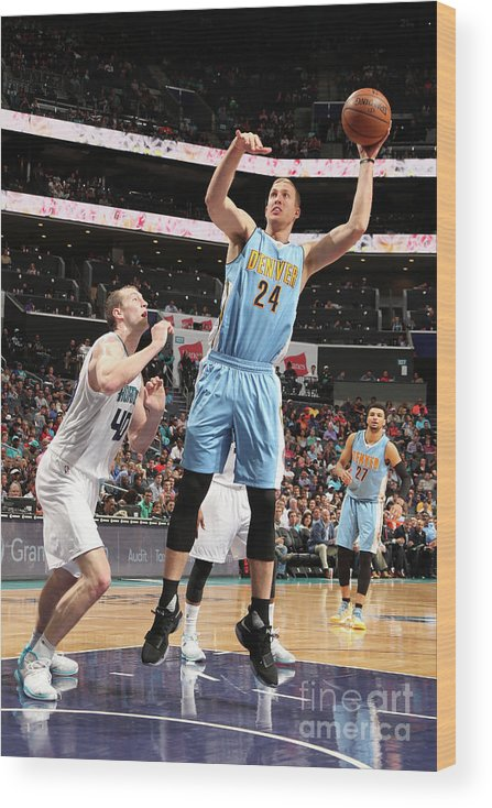 Nba Pro Basketball Wood Print featuring the photograph Mason Plumlee by Kent Smith