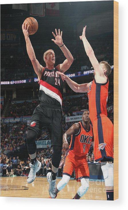 Nba Pro Basketball Wood Print featuring the photograph Mason Plumlee by Layne Murdoch