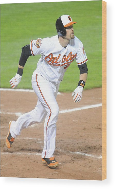 Game Two Wood Print featuring the photograph Matt Wieters by Mitchell Layton