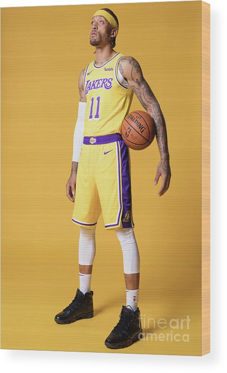 Media Day Wood Print featuring the photograph Michael Beasley by Atiba Jefferson