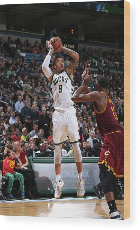 Michael Beasley Wood Print featuring the photograph Michael Beasley by Gary Dineen