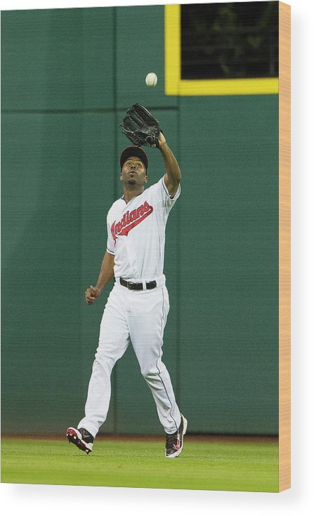 Michael Bourn Wood Print featuring the photograph Michael Bourn and Xander Bogaerts by Jason Miller