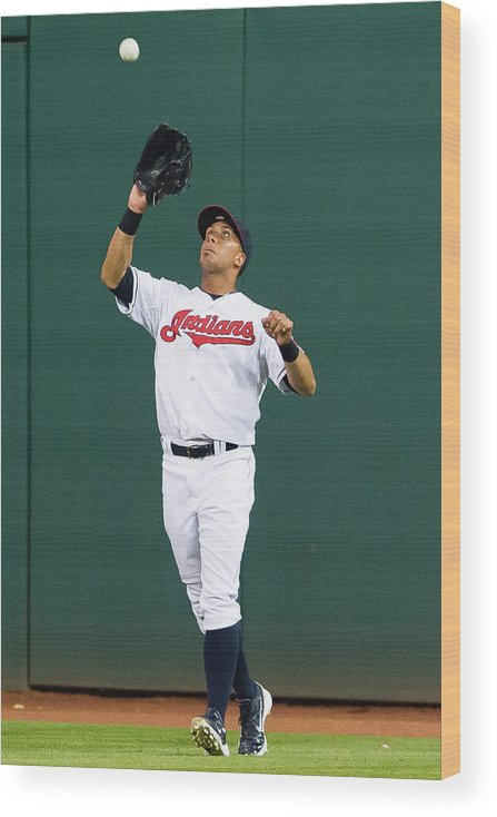 People Wood Print featuring the photograph Michael Brantley and Carlos Correa by Jason Miller